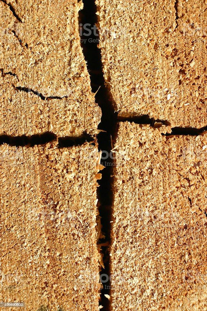 cross stump stock photo