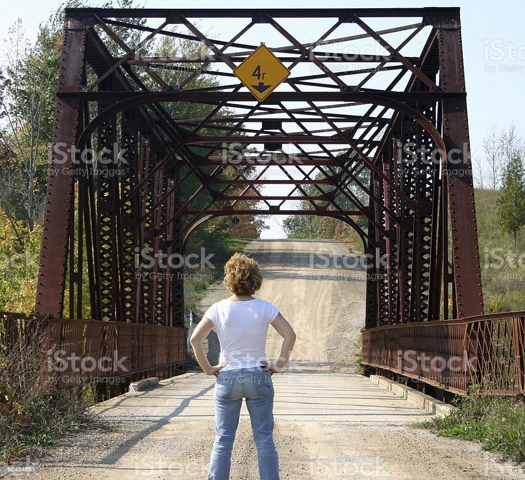 cross the bridge when we get there stock photo