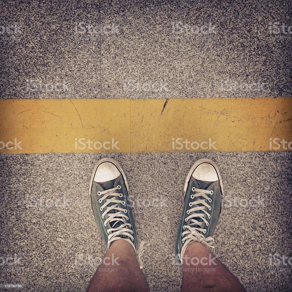 Cross The Line stock photo