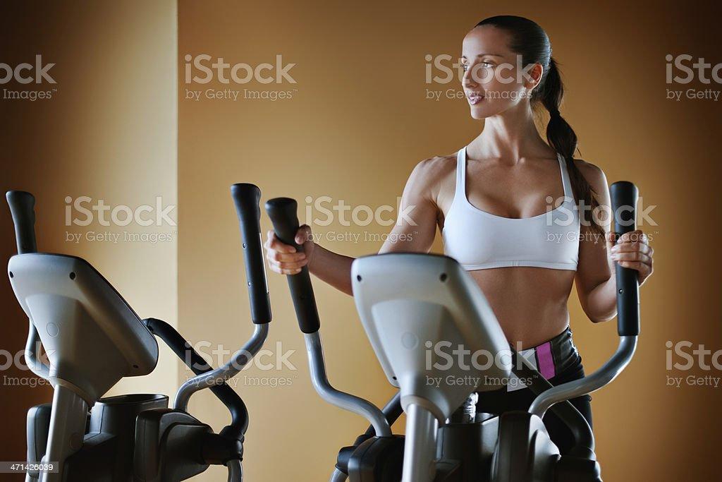 Cross Trainer Exercise stock photo