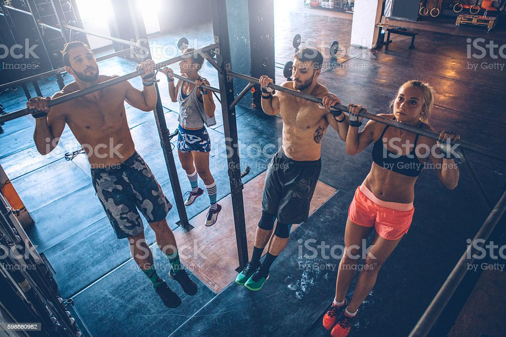 Cross training stock photo
