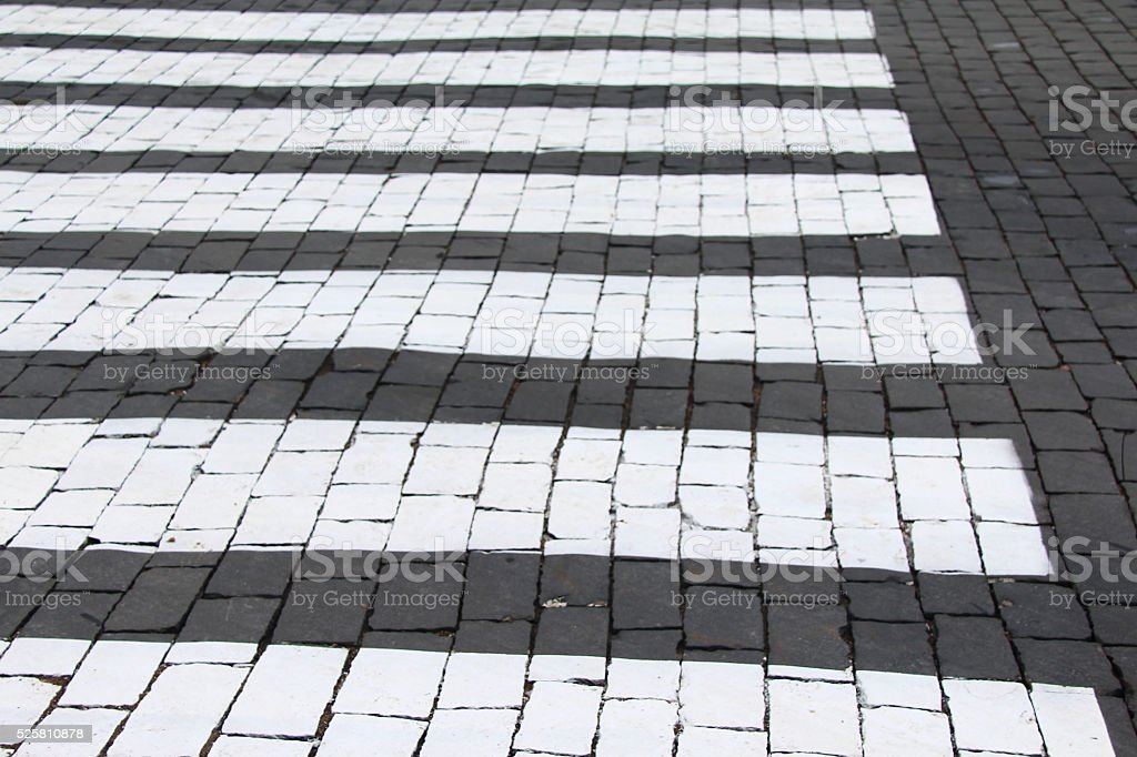 Cross walk on street stock photo