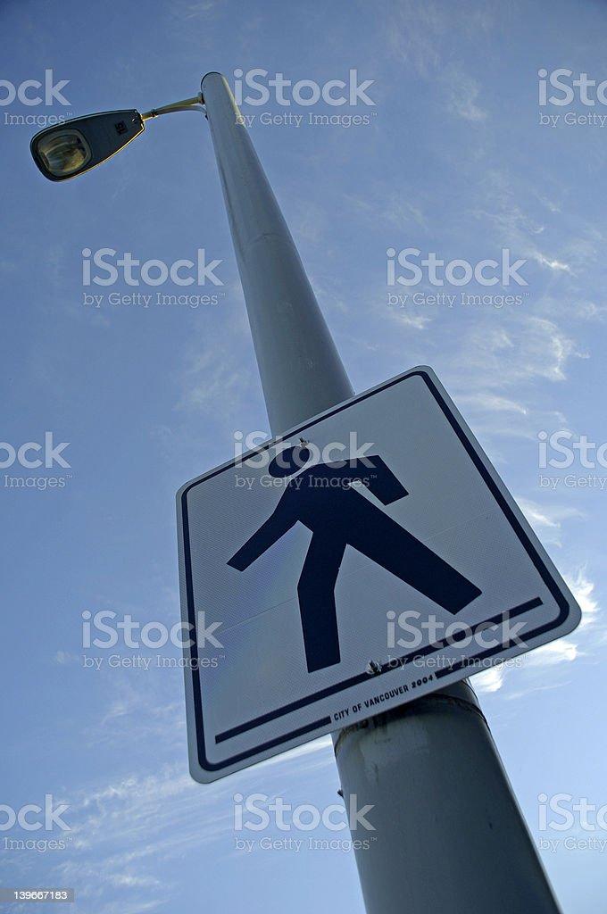 Cross walk sign royalty-free stock photo