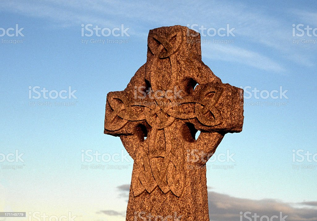 cross with celtic knot stock photo