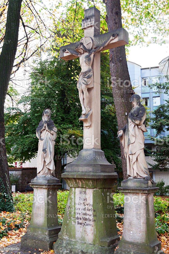 Cross with Jesus stock photo