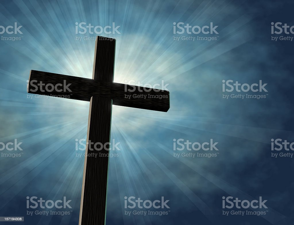 Cross with Light royalty-free stock photo