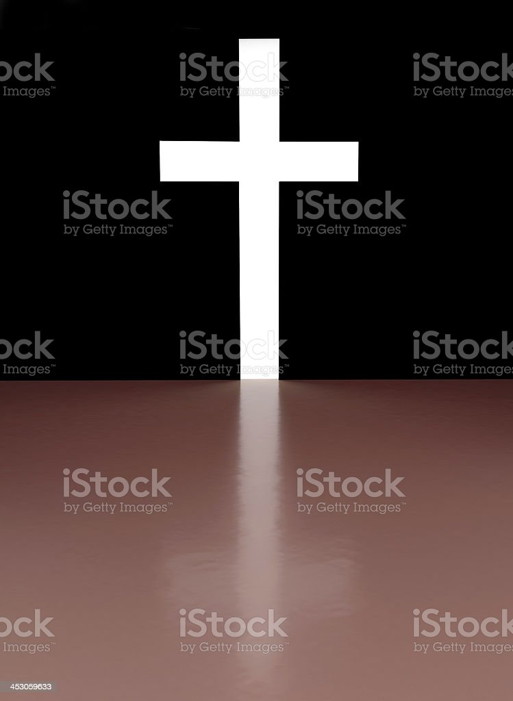 Cross with light shafts royalty-free stock photo