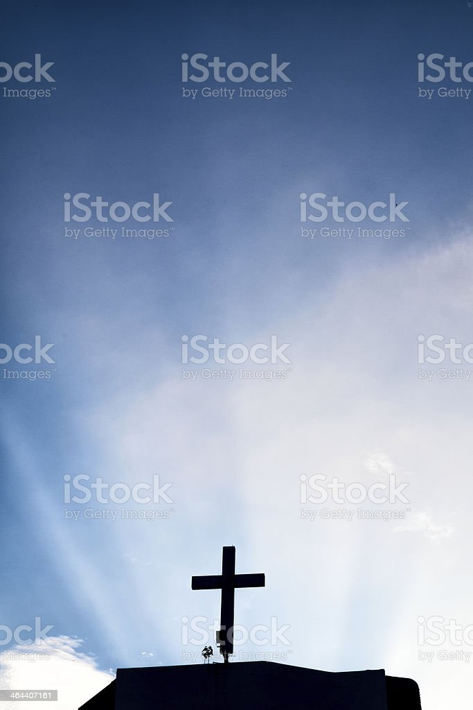 Cross with ray royalty-free stock photo