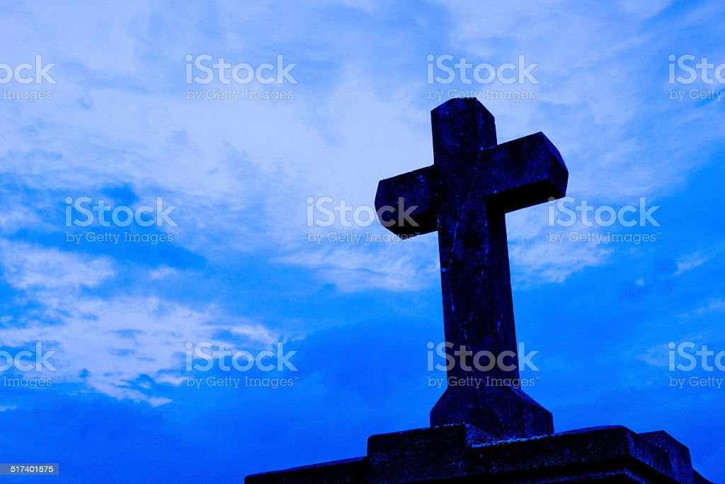 cross with sky stock photo
