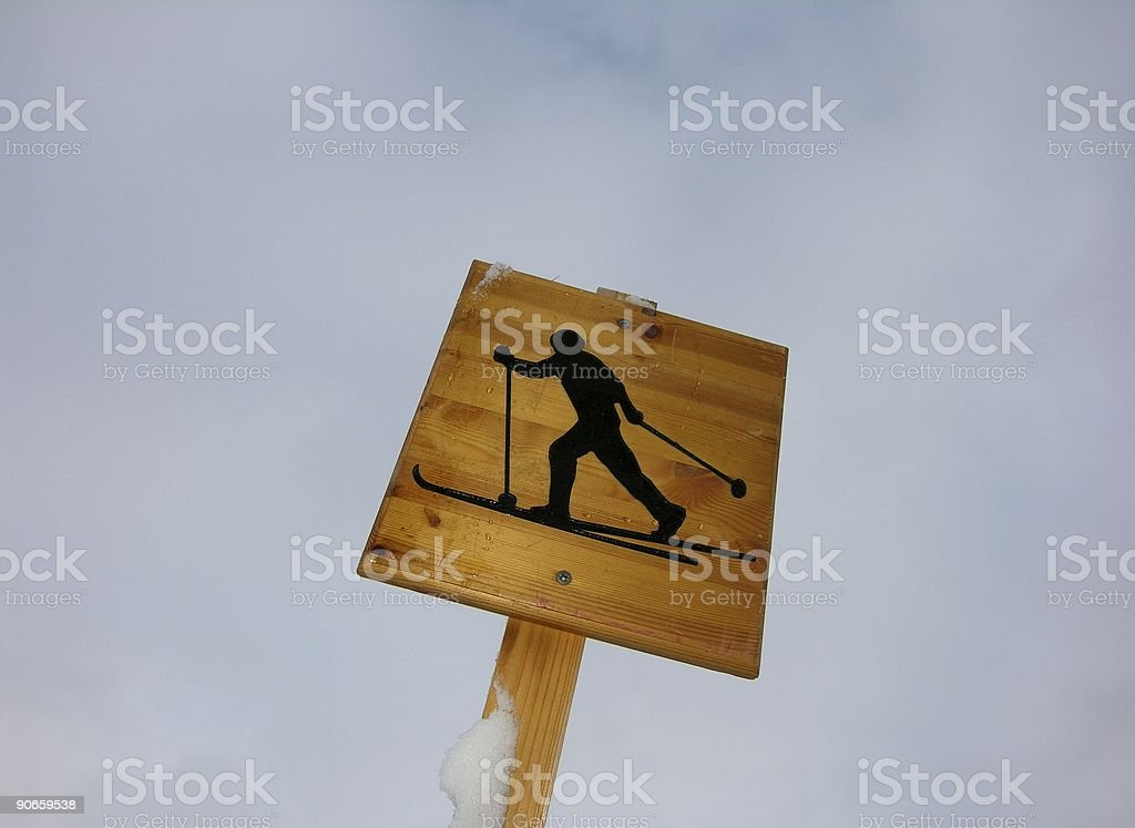 Cross-country royalty-free stock photo