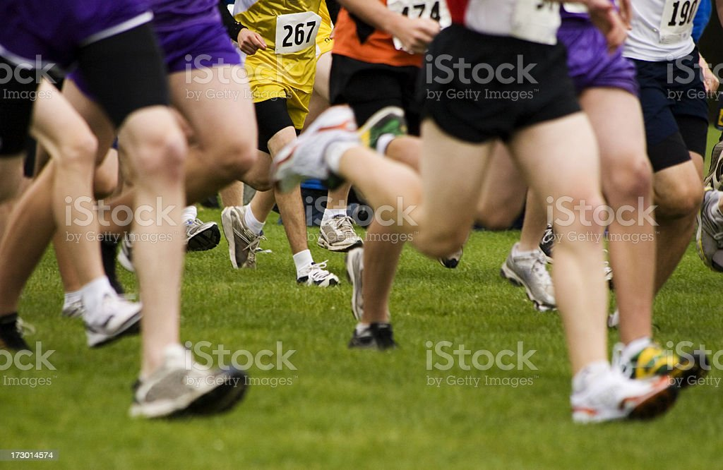 Cross-Country Racers royalty-free stock photo