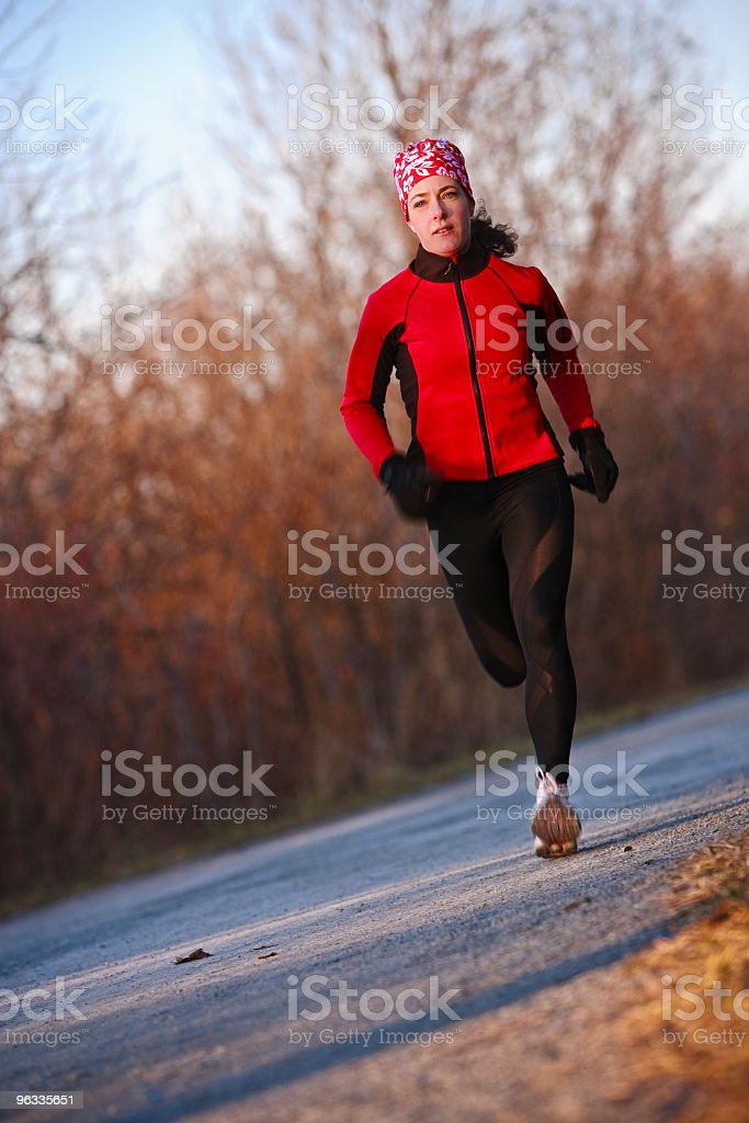Cross-country running royalty-free stock photo