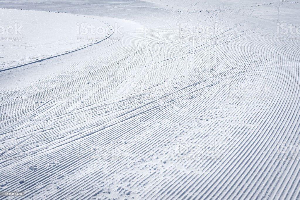 Cross-Country Running Ski Tracks stock photo