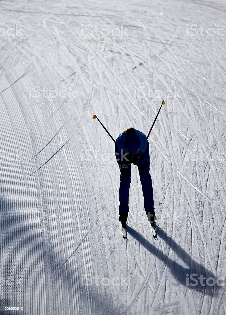 Cross-Country Ski Girl stock photo