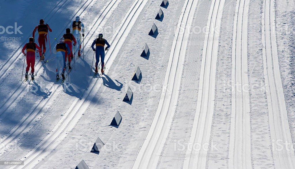 Cross-Country Ski Race stock photo