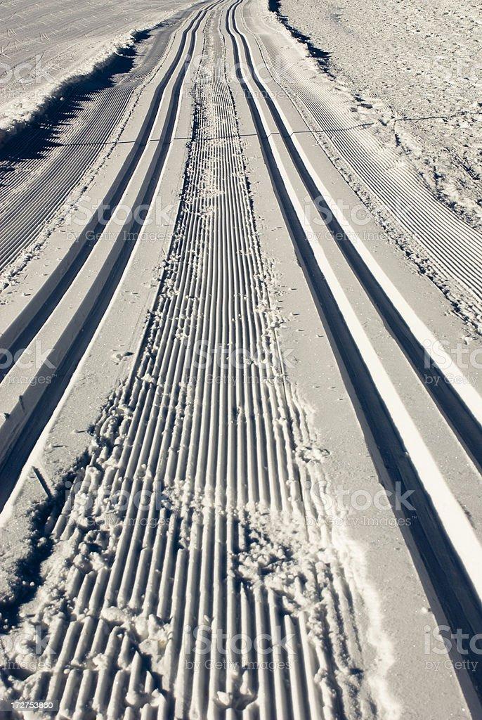 Cross-Country Ski Run royalty-free stock photo