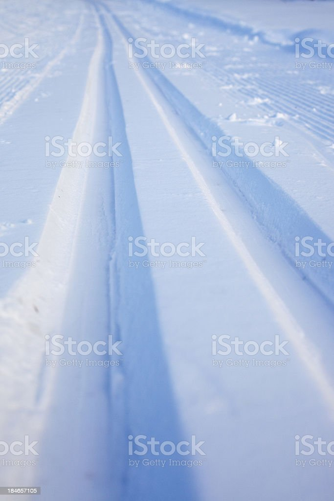 Cross-country ski run stock photo