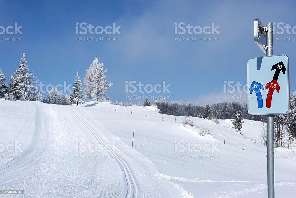 Cross-Country Ski Track in Vojsko Slovenia stock photo