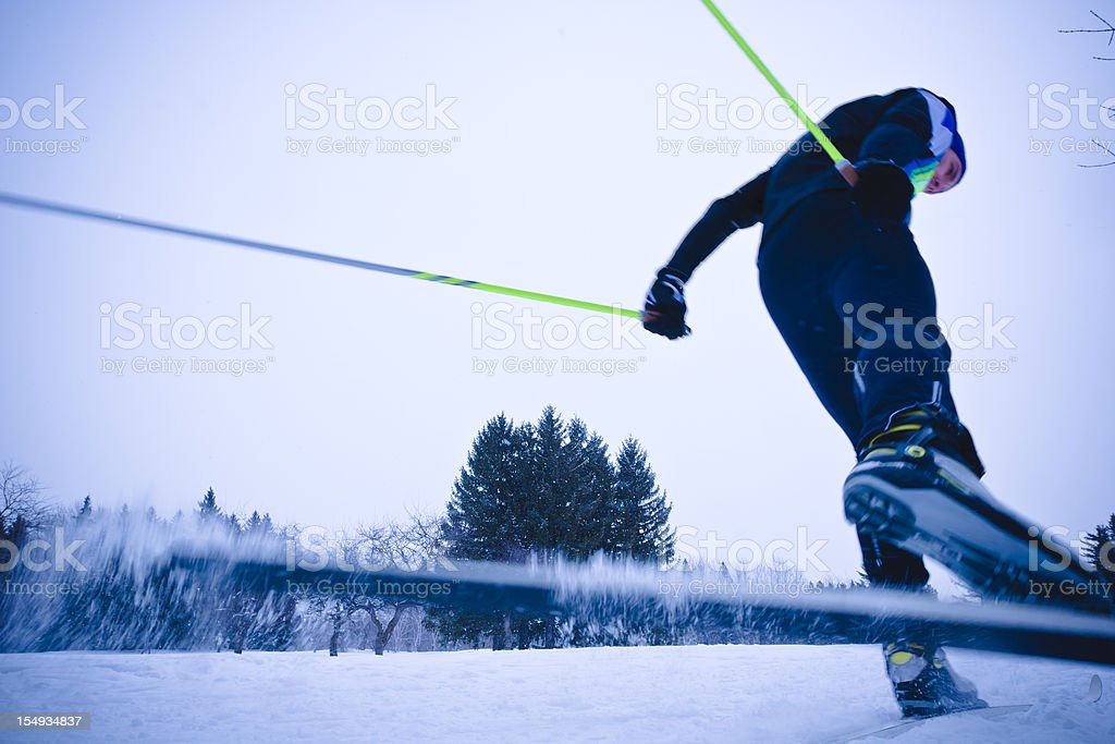 Cross-country skier. stock photo