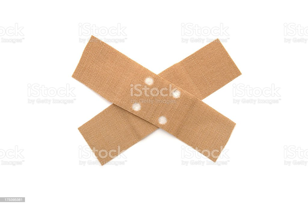 Crossed Band-Aid royalty-free stock photo