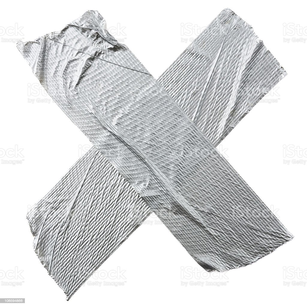Crossed Duct Tape stock photo