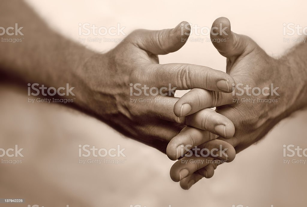 Crossed fingers. royalty-free stock photo