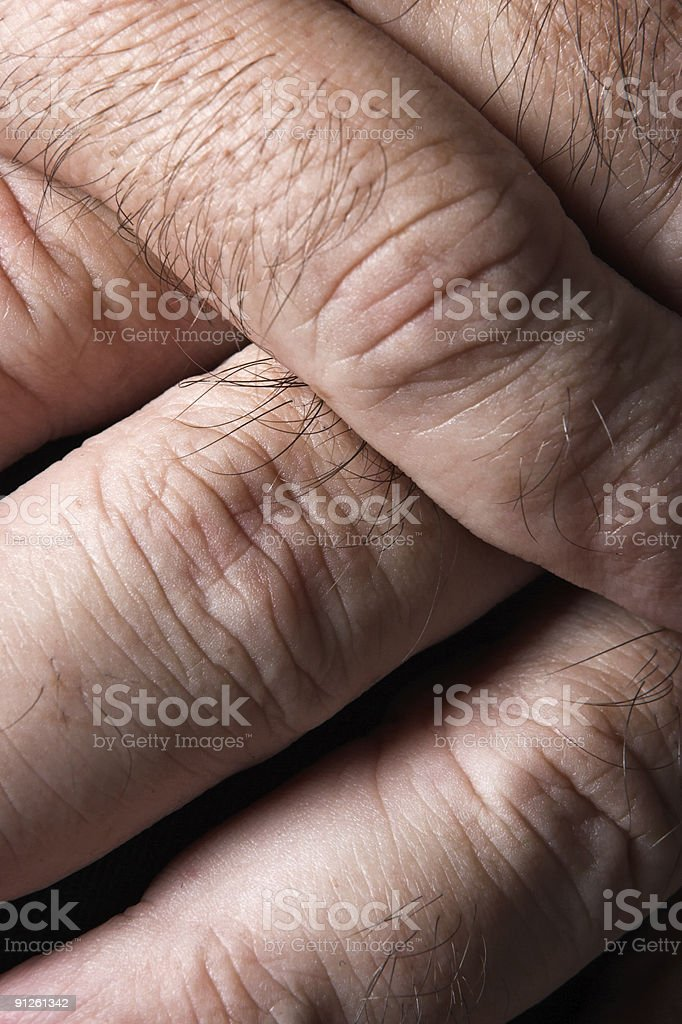 Crossed Fingers royalty-free stock photo
