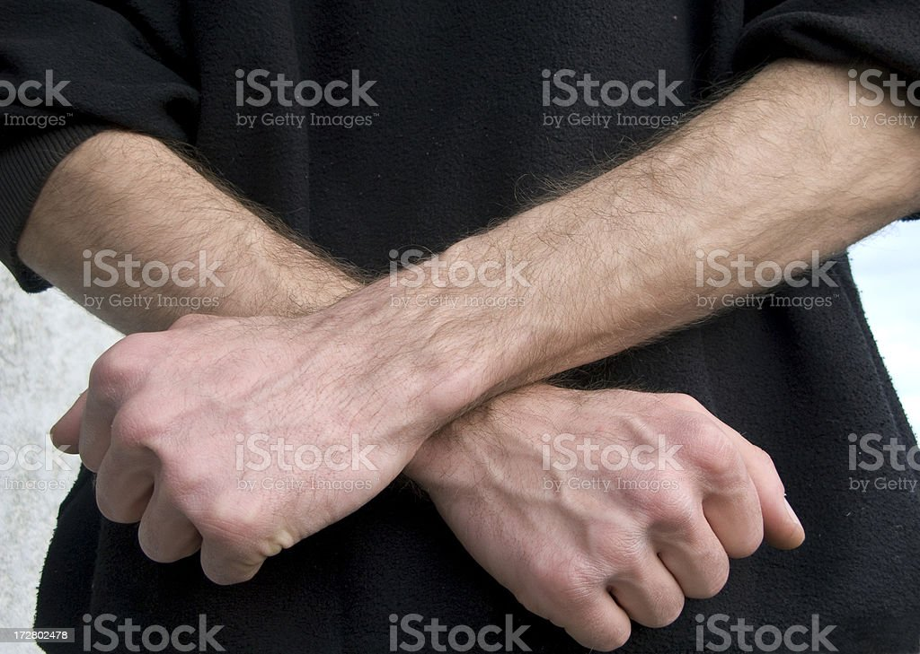 Crossed Hands royalty-free stock photo