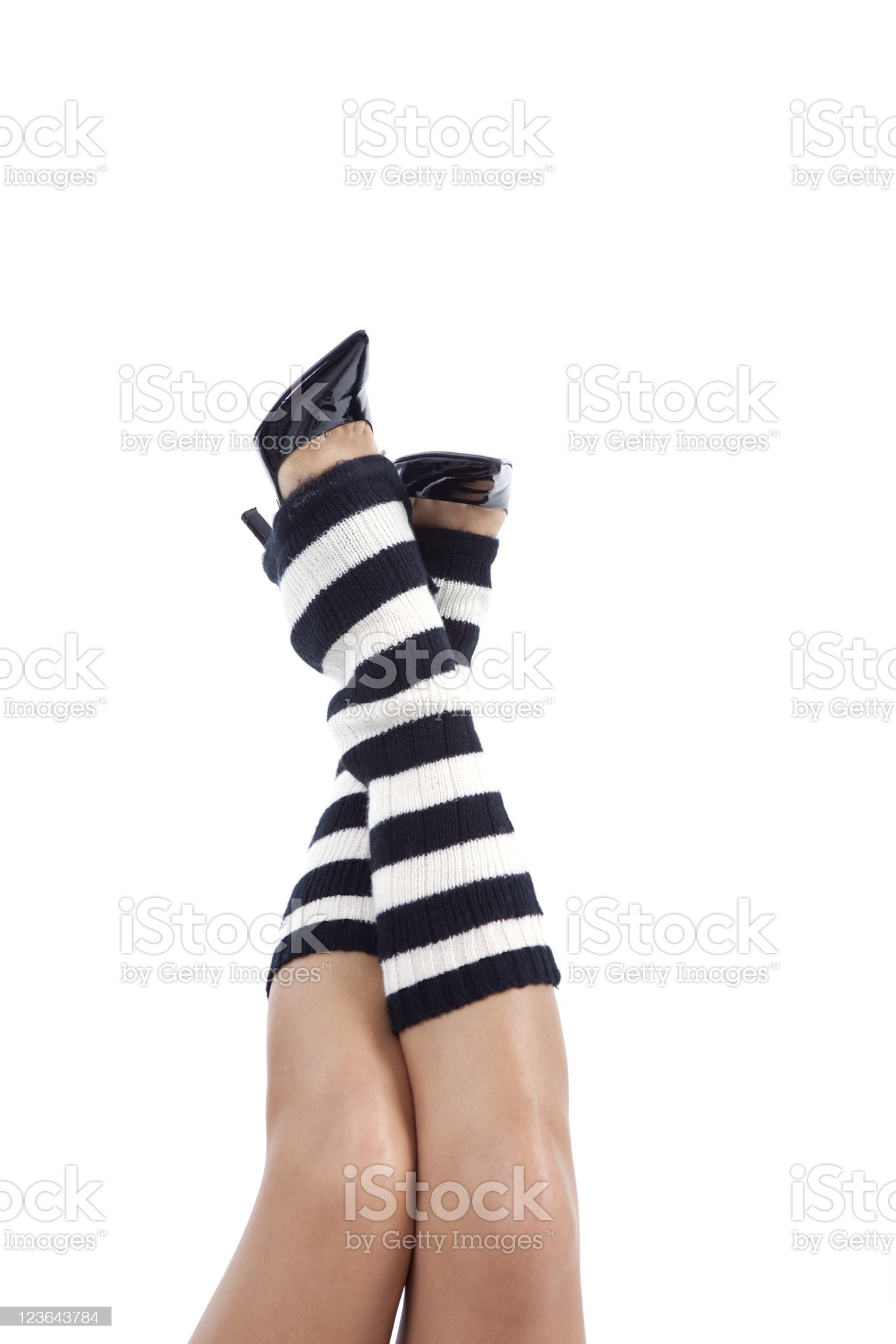 Crossed    Leg royalty-free stock photo