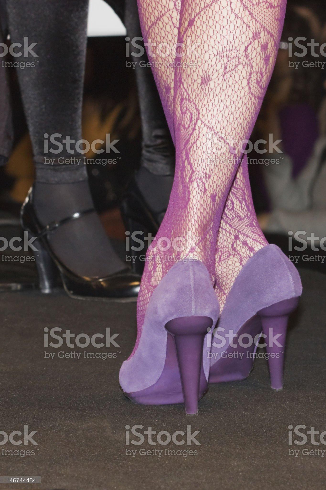 Crossed legs royalty-free stock photo