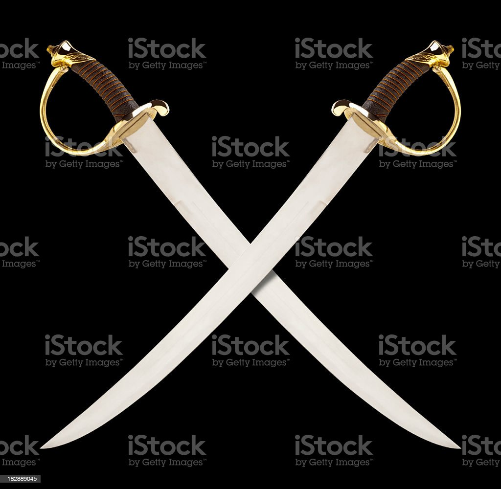 Crossed Swords, great for a Pirate or Calvary Theme. royalty-free stock photo