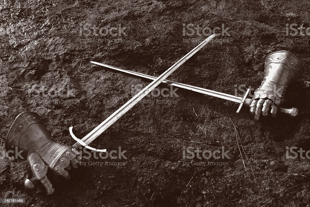 crossed swords royalty-free stock photo