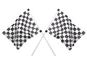 Crossed Twin Checkered Flags