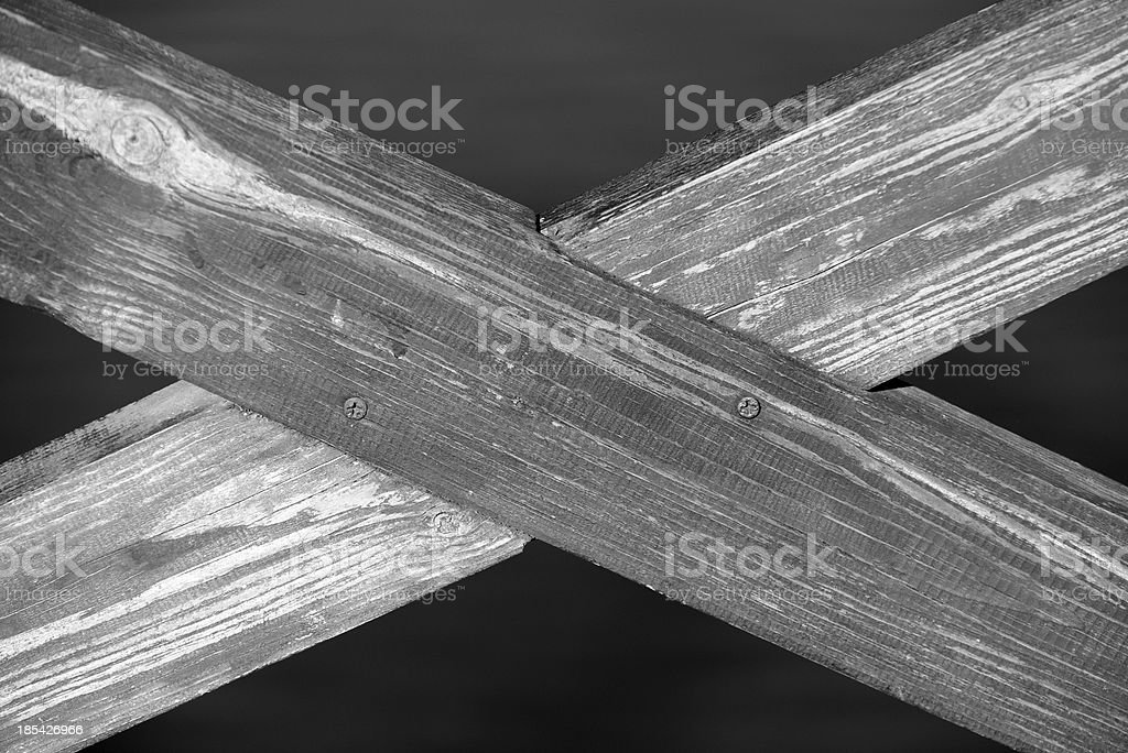 Crossed Wooden Planks royalty-free stock photo