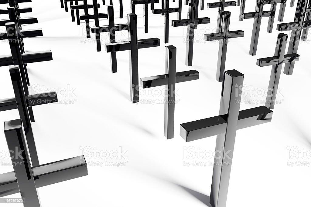 Crosses - 3d rendered illustration stock photo