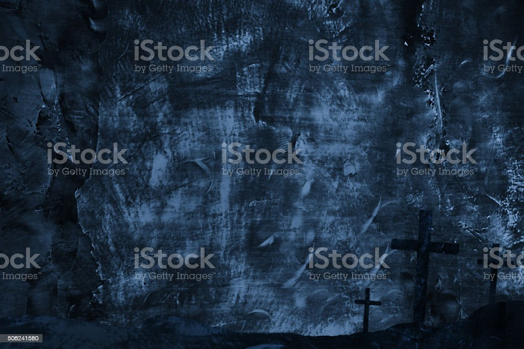 Crosses on Metal Texture background stock photo