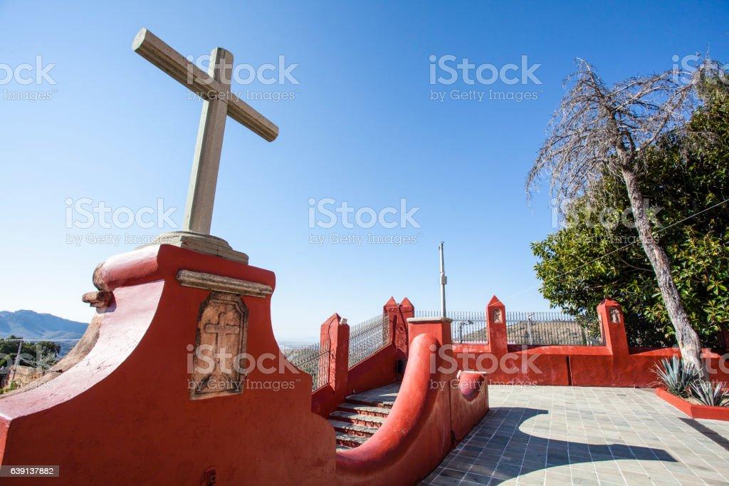Crosses outside Templo San Cayetano church in Guanajuato - Mexico stock photo