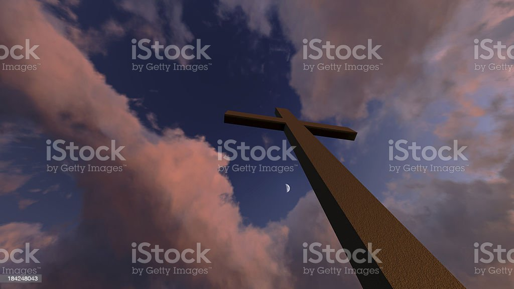 crosses  silhouette royalty-free stock photo