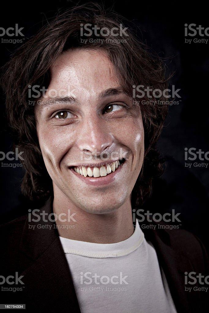 cross-eyed crazy man royalty-free stock photo