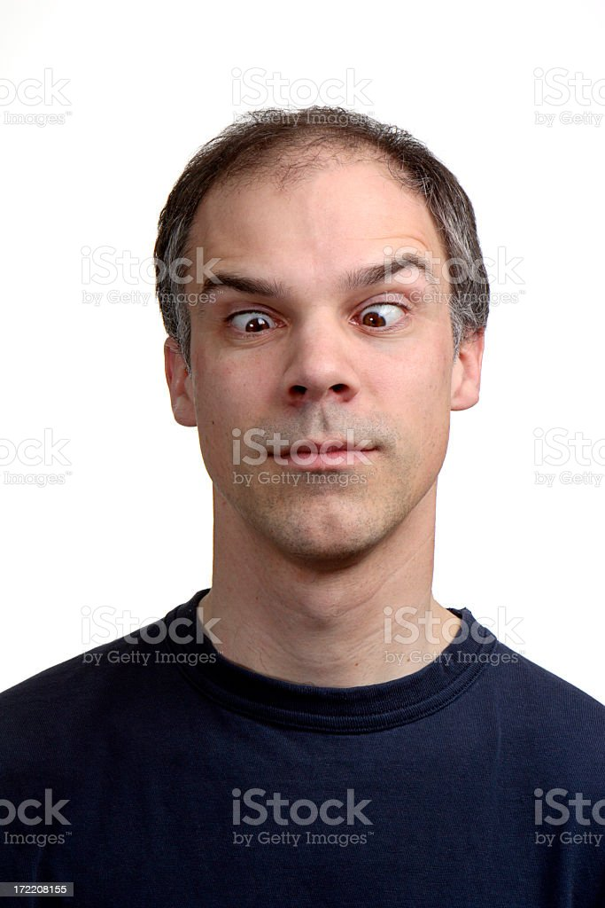Cross-Eyed royalty-free stock photo