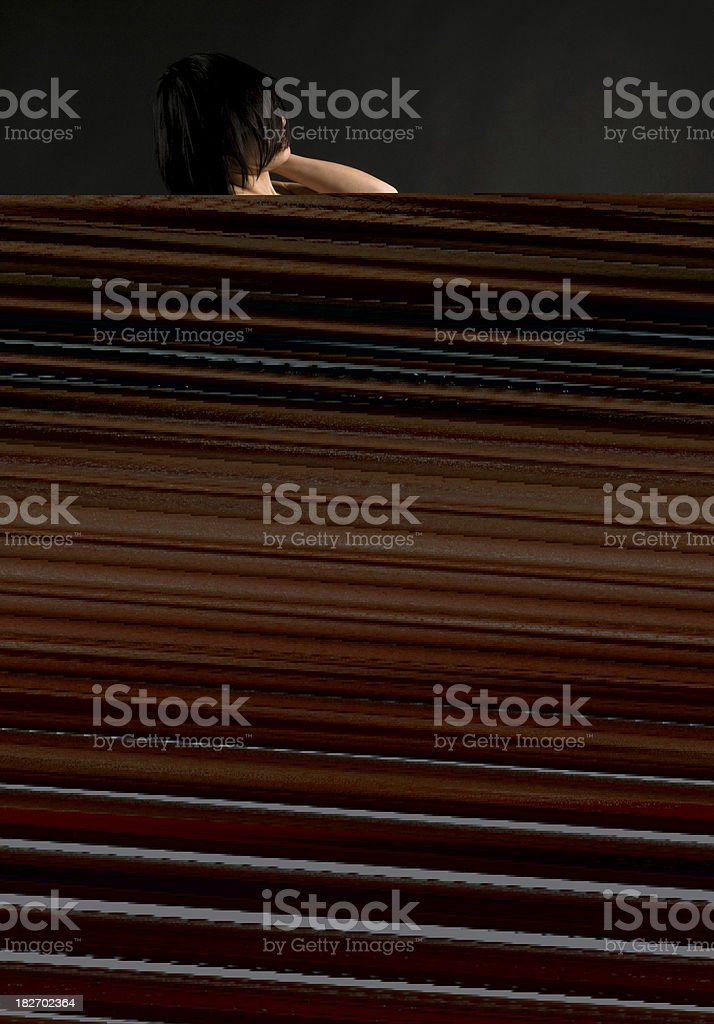 cross-eyed royalty-free stock photo