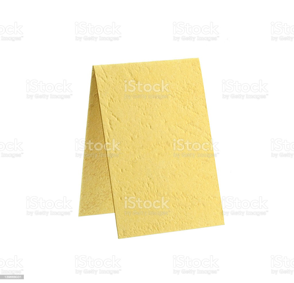 Crossgrained Yellow Paper Board royalty-free stock photo