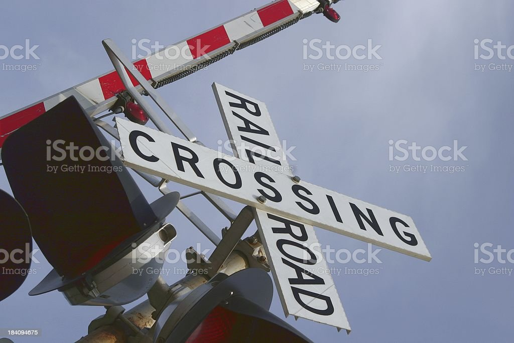 RR crossing 1 stock photo