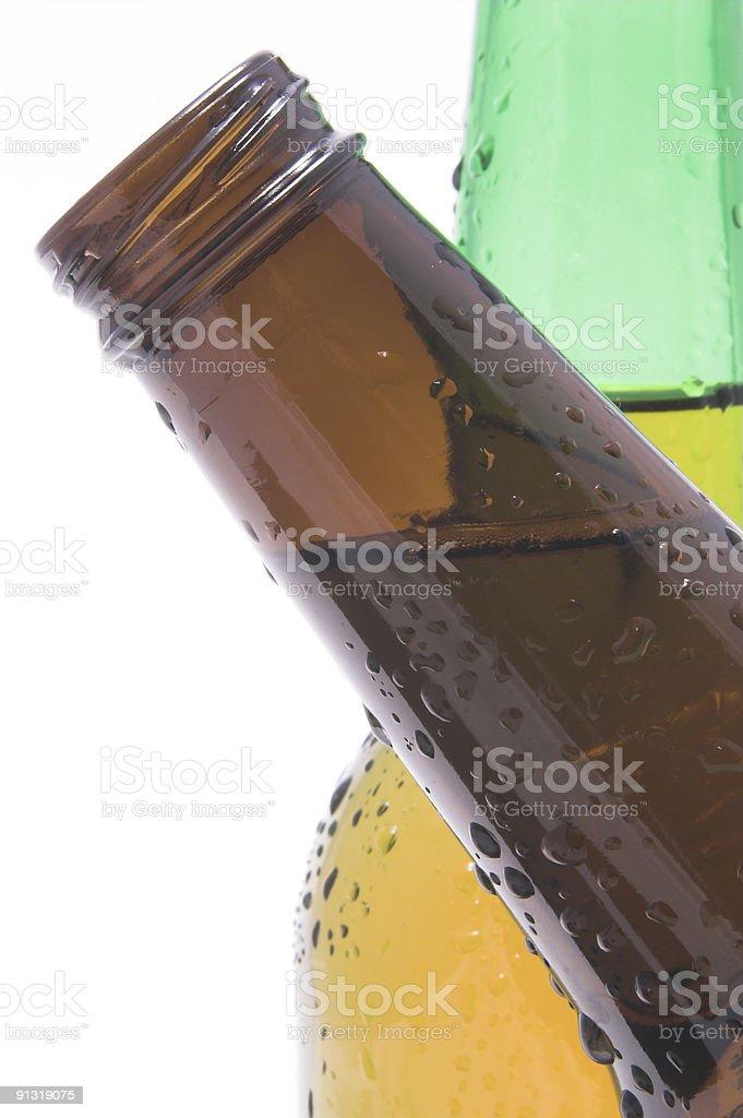 Crossing Beer Bottles stock photo