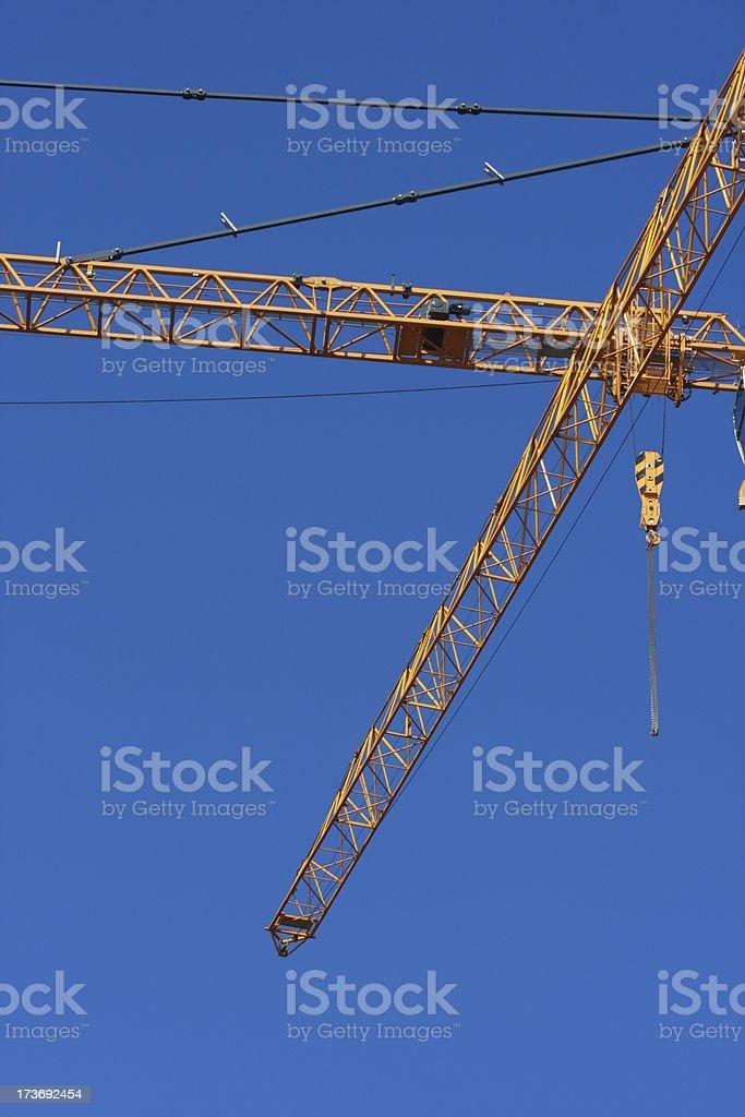 crossing crane beams stock photo