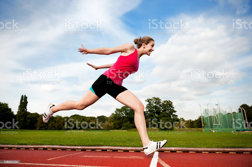 Crossing Finish Line stock photo