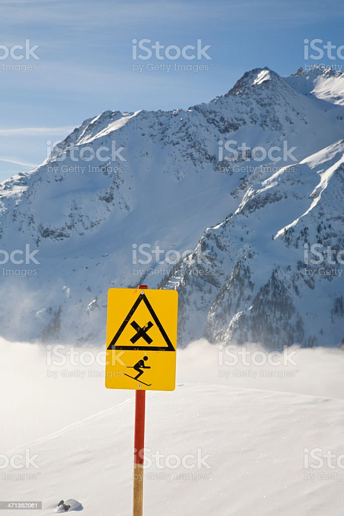 Crossing for skiers royalty-free stock photo