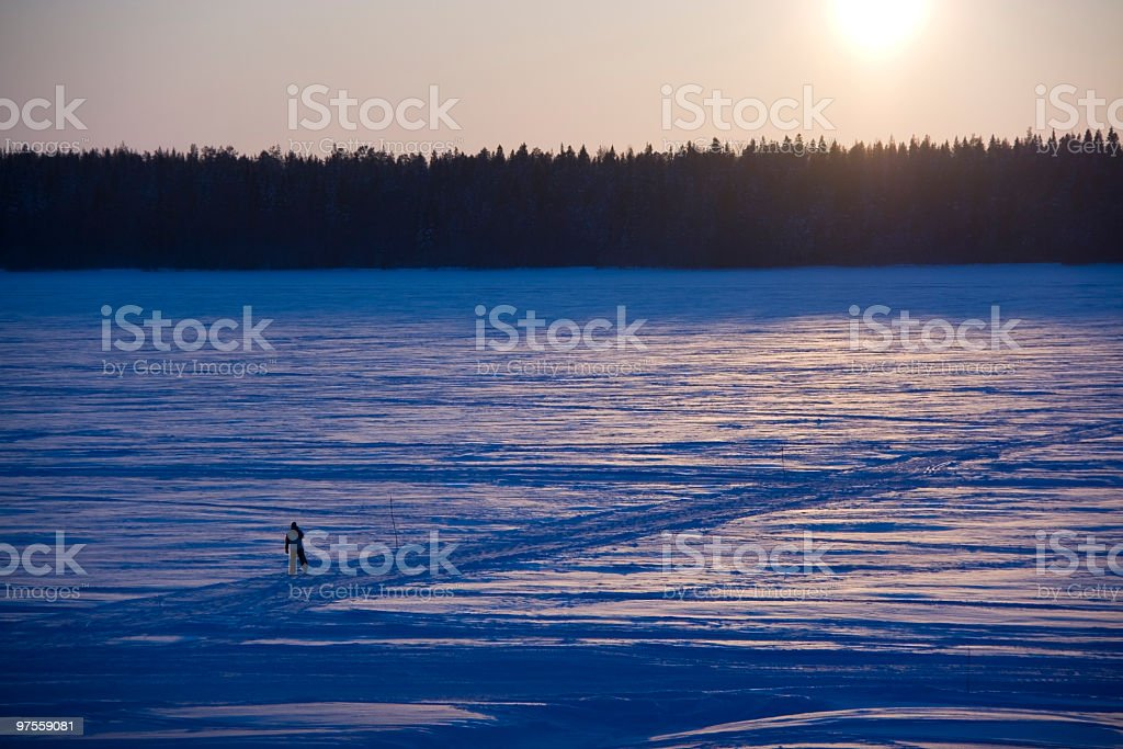 Crossing Frozen Sea royalty-free stock photo