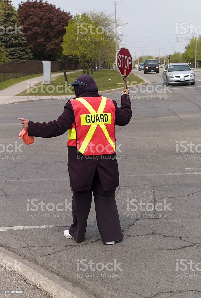 Crossing Guard royalty-free stock photo
