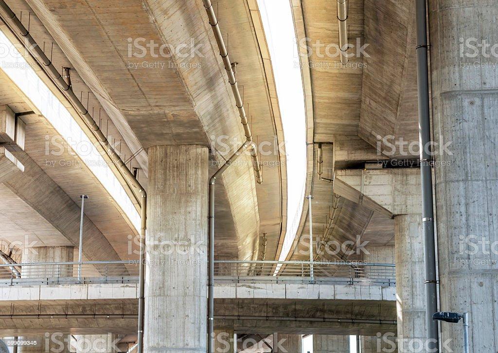 Crossing highway bridge stock photo